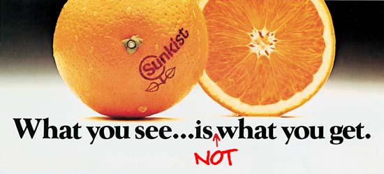 Sunkist is sprayed with cancer