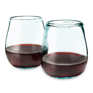 Uncommon goods - Recycled Wine Glass