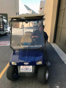 Jack on Ellen cart